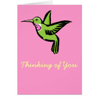 Cartão Colibri minúsculo