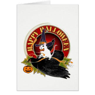 Cartão Colisão no rato do Dia das Bruxas da noite