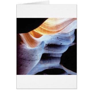 Cartão Colisões e protuberâncias nas rochas