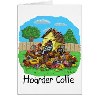 Cartão Collie do Hoarder