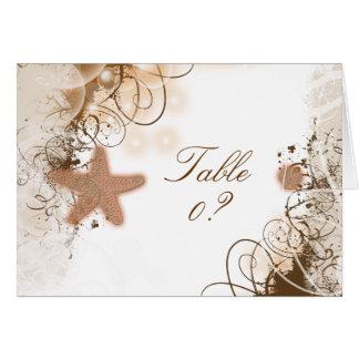 Cartão Colocação do assento da mesa do ~ do tema do