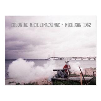 Cartão colonial de Michilimackinac Michigan