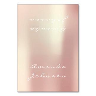 Cartão Coloque o nome personalizado ouro do rosa do rosa