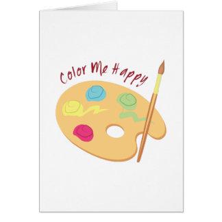 Cartão Colora-me feliz