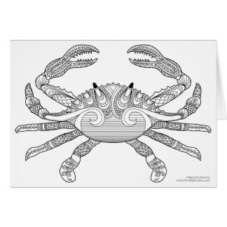 Cartão Colora-me ilustração náutica do Doodle do zen do