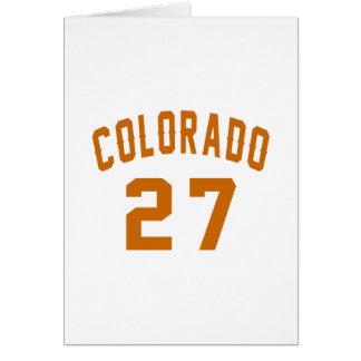 Cartão Colorado 27 designs do aniversário