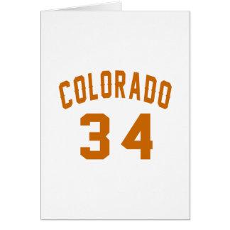 Cartão Colorado 34 designs do aniversário