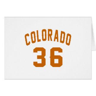 Cartão Colorado 36 designs do aniversário