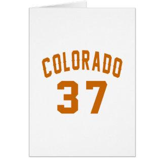 Cartão Colorado 37 designs do aniversário
