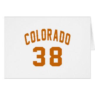 Cartão Colorado 38 designs do aniversário