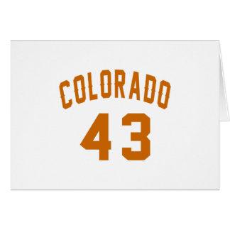 Cartão Colorado 43 designs do aniversário