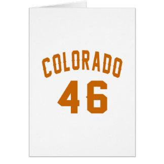 Cartão Colorado 46 designs do aniversário