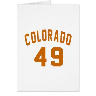 Cartão Colorado 49 designs do aniversário