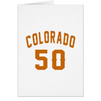Cartão Colorado 50 designs do aniversário