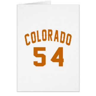 Cartão Colorado 54 designs do aniversário