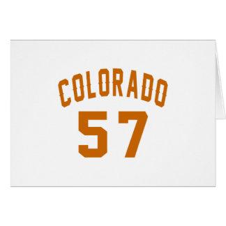 Cartão Colorado 57 designs do aniversário