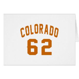 Cartão Colorado 62 designs do aniversário