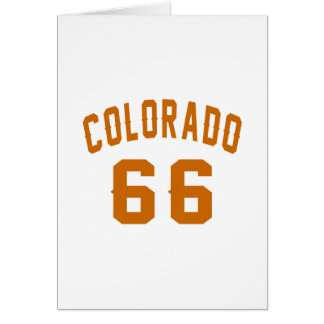 Cartão Colorado 66 designs do aniversário