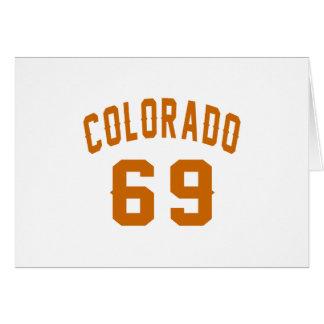 Cartão Colorado 69 designs do aniversário