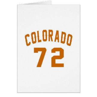 Cartão Colorado 72 designs do aniversário