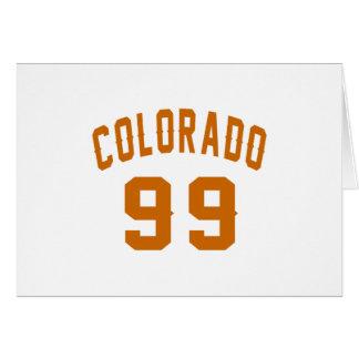 Cartão Colorado 99 designs do aniversário