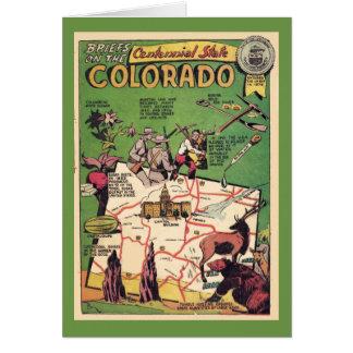 Cartão Colorado o estado centenário