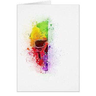 Cartão Colorful Skull - Caveira Colorida