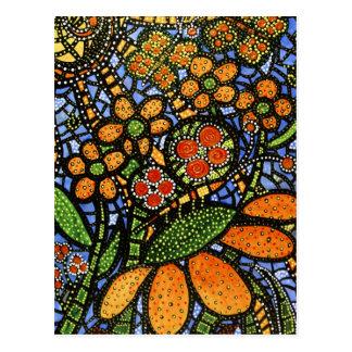 Cartão colorido abstrato da arte da flor & da