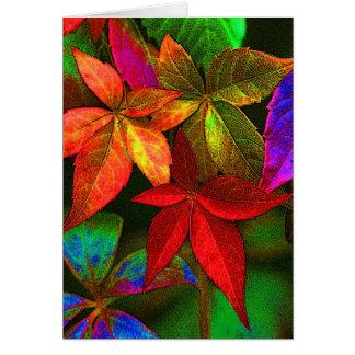 Cartão colorido brilhante das folhas