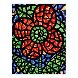 Cartão colorido da arte da flor vermelha abstrata