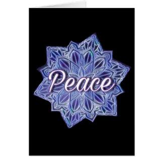 Cartão colorido da mandala da paz