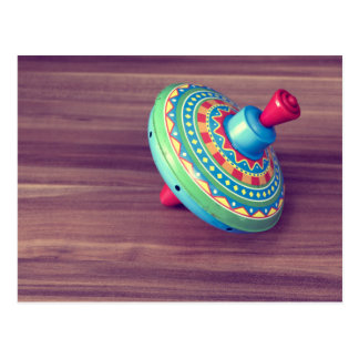 Cartão colorido da parte superior do brinquedo