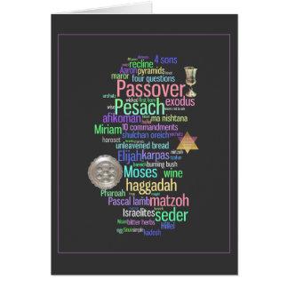Cartão colorido das palavras e dos símbolos de