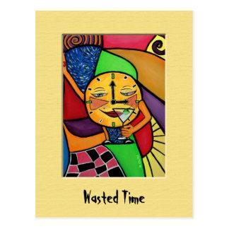Cartão colorido desperdiçado do tempo