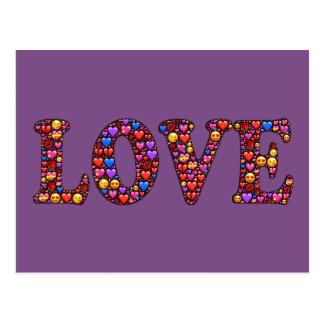 Cartão colorido do amor sentido
