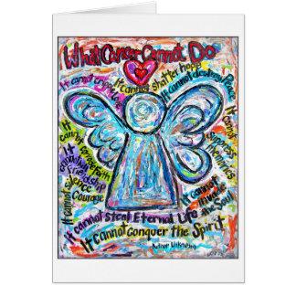 Cartão colorido do anjo do cancer