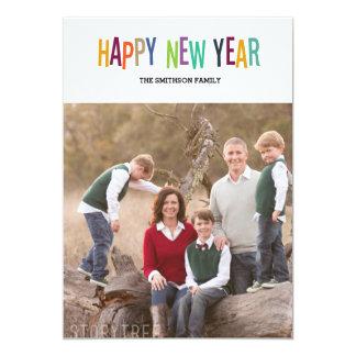 cartão colorido do ano novo do feliz ano novo convite 12.7 x 17.78cm