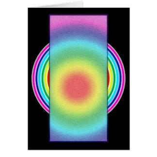 Cartão colorido do arco-íris