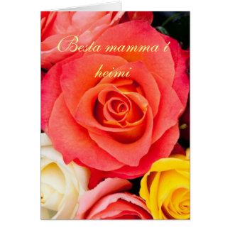 Cartão colorido do dia dos mother´s dos rosas