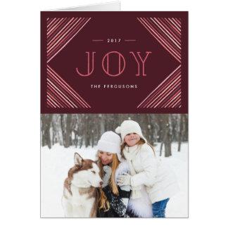 Cartão colorido do feriado dos cantos - baga