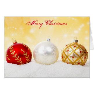 Cartão colorido do feriado dos ornamento do Feliz