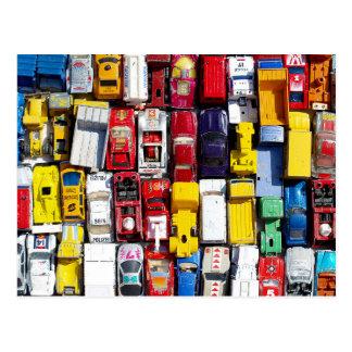 Cartão colorido dos carros do brinquedo