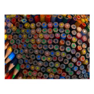 Cartão colorido dos lápis