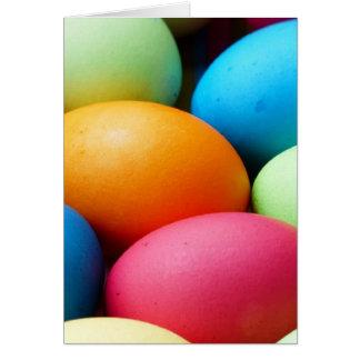 Cartão colorido dos ovos da páscoa