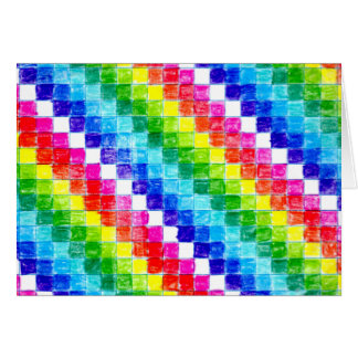 Cartão Colorido em quadrados do papel de gráfico