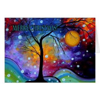 Cartão colorido MADART da arte do Feliz Natal