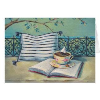 Cartão colorido Pastel da arte do Teacup & do