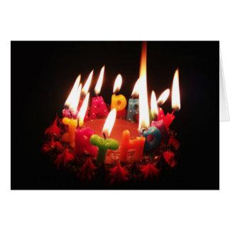 """Cartão Colorido, """"velas do feliz aniversario"""" de LitC,"""