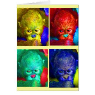 Cartão Colorindo meus primatas do mundo primeiramente