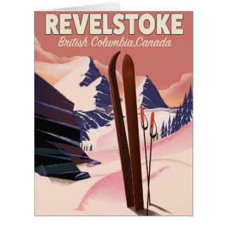 Cartão Columbia Britânica de Revelstoke, poster do esqui